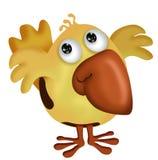 Yellow Bird. Cute yellow bird with orange beak vector illustration