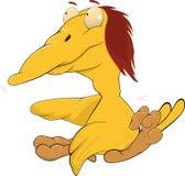 Yellow bird, caricature Royalty Free Stock Photography
