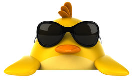 Yellow bird. Fun yellow bird, 3d generated picture Royalty Free Stock Images