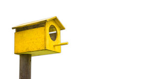 Yellow Bird house Stock Images