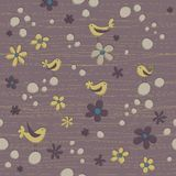 Yellow Birdies Seamless Background Pattern royalty free illustration