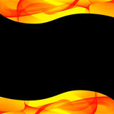 Yellow and black abstract background Royalty Free Stock Photos