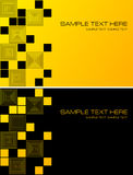 Yellow and black abstract background with squares Royalty Free Stock Photos