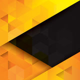 Yellow and black abstract background. Stock Images