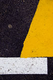 Yellow, Black And White Asphalt Background Royalty Free Stock Image