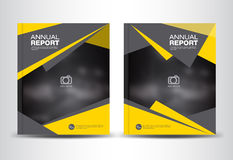 Yellow and black Annual report template vector illustration Royalty Free Stock Photo