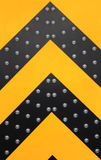 Yellow and black arrows Royalty Free Stock Photography