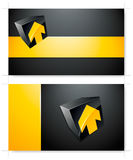 Yellow and black background  Stock Image