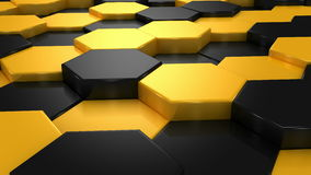 Yellow and Black Blocks Animation stock video