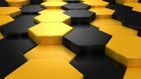 Yellow and Black Blocks Animation stock footage
