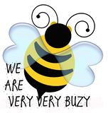 Yellow and black bumble bee illustration royalty free stock image