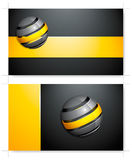 Yellow and black business card Stock Photos