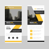 Yellow black Business Roll Up Banner flat design template ,Abstract Geometric banner template Vector illustration set Stock Photography
