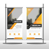 Yellow black Business Roll Up Banner flat design template ,Abstract Geometric banner template Vector illustration set Royalty Free Stock Photo