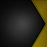 Yellow and black carbon fiber background. 3d illustration material design. racing style stock illustration