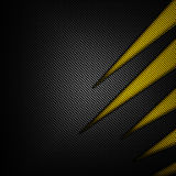 Yellow and black carbon fiber background. 3d illustration material design. racing style royalty free illustration