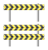 Yellow and black construction barricade Royalty Free Stock Image