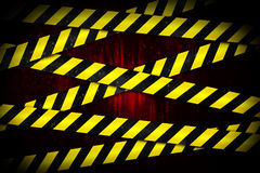 Yellow and black cordon tape Stock Photography