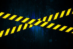 Yellow and black cordon tape Stock Images