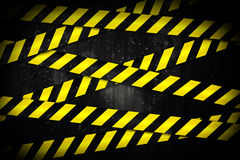 Yellow and black cordon tape Royalty Free Stock Photography