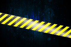 Yellow and black cordon tape Stock Image