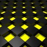 Yellow and black cubes Stock Photos
