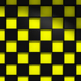 Yellow and black cubes Stock Photography