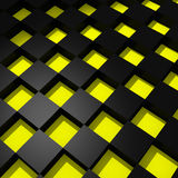 Yellow and black cubes Stock Image