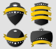 Yellow and black design elements. Stock Photo