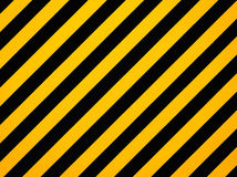 Yellow and black diagonal hazard stripes Royalty Free Stock Photos