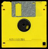 Yellow and Black Diskette Mj31111213d01 Royalty Free Stock Images