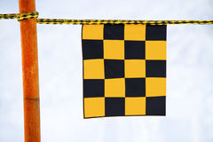 Yellow and black flag Royalty Free Stock Photo