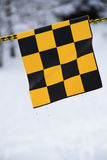 Yellow and black flag Royalty Free Stock Photos