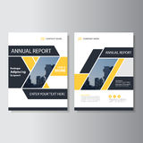 Yellow black geometric Vector annual report Leaflet Brochure Flyer template design, book cover layout design Royalty Free Stock Photo