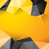 Yellow and black geometrical background. Polygonal background for card design, page design, leaflet, brochure, flyer or magazine page design Royalty Free Stock Photo