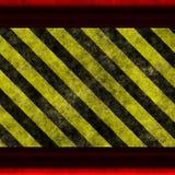 Yellow black hazrd Stock Image