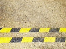 Yellow and black horizontal lines Royalty Free Stock Image