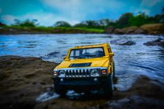 Yellow And Black Hummer Miniature Stock Photography