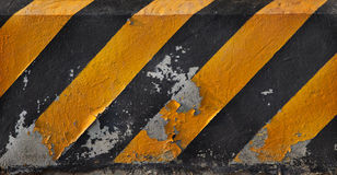 Yellow and black line of road traffic line Stock Image