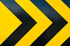 Yellow and black marking Stock Photos
