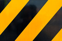 Yellow and Black Marking Royalty Free Stock Photography