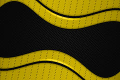 Yellow and black metal background Royalty Free Stock Image