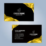 Yellow and Black modern business card template Royalty Free Stock Images