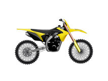 Yellow black motor bike Stock Photography
