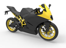 Yellow and black motorcycle Stock Image