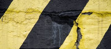 Yellow and black old emergency lines Royalty Free Stock Photo