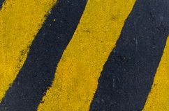 Yellow and Black Pedestrian Lane royalty free stock images