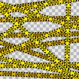 Yellow with black police line and danger tapes vector illustration