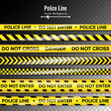 Yellow With Black Police Line. Do Not Enter, Danger. Security Quarantine Tapes. Isolated On Transparent Background Royalty Free Stock Image