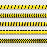 Yellow with black police lines. Stock Photography